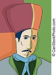 Abstracto turkish muslim man