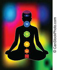 Abstrae aura colorida con cuerpo