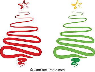 Abstrae el árbol de Navidad, vector