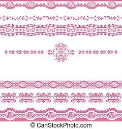 Abstrae el adorno rosa