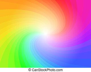 Abstrae el color del arco iris