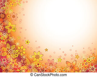 Abstrae el color naranja de las flores