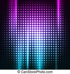 Abstrae el colorido fondo del club disco