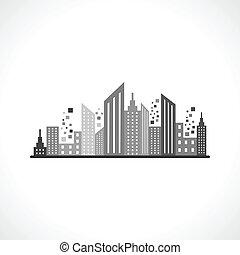 Abstrae el diseño del edificio gris