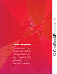 Abstrae el fondo geométrico rojo con líneas