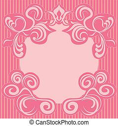 Abstrae el marco de decoración rosa