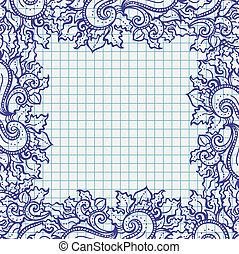 Abstrae el marco floral