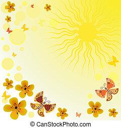 Abstrae el pasado de la primavera amarilla