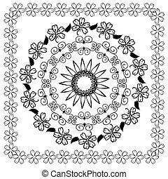 Abstrae el patrón arabesco floral