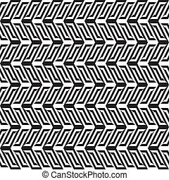 Abstrae el patrón blanco y negro 1