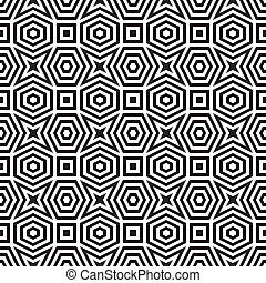 Abstrae el patrón blanco y negro 3