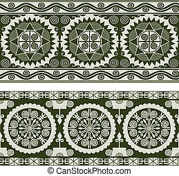 Abstrae el patrón de pergamino