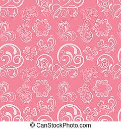 Abstrae el patrón del corazón floral