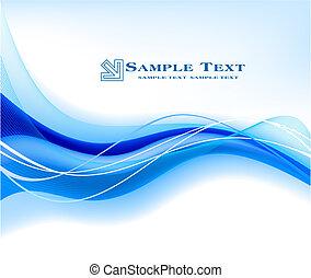 Abstrae el vector de fondo azul