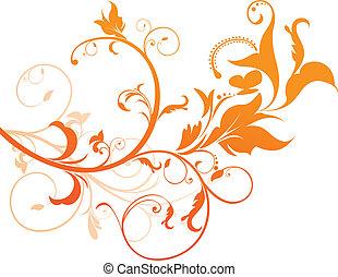 Abstrae floral naranja