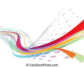 Abstrae la línea de onda arco iris