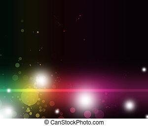 Abstrae la luz colorida en sombras vibrantes y emocionantes