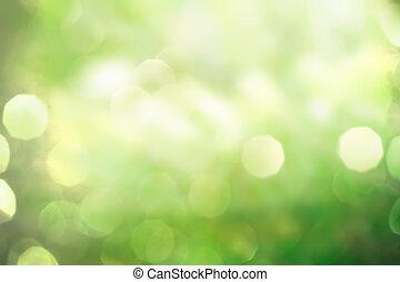 Abstrae la naturaleza de la primavera verde