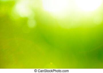 Abstrae la naturaleza verde.