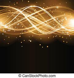 Abstrae la onda dorada con estrellas