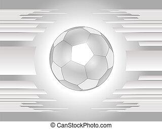 Abstrae la pelota de fútbol gris
