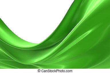 Abstrae la tela verde
