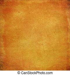 Abstrae los antecedentes amarillos o papel con textura grunge