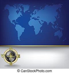 Abstrae los antecedentes de negocios con el mapa terrestre