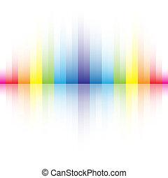 Abstrae los colores del arco iris