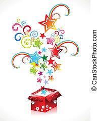 Abstrae una caja mágica de colores