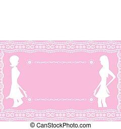 Abstraer a las mujeres rosas