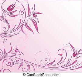 Abstraer antecedentes florales rosas