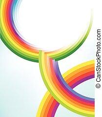 Abstraer círculos coloridos del arco iris es textura