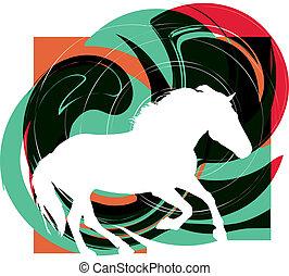Abstraer caballos siluetas. Vector