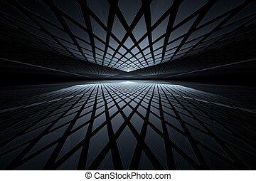 Abstraer el arte fractal digital en perspectiva