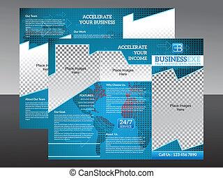 Abstraer el brochur de tres pliegues corporativos