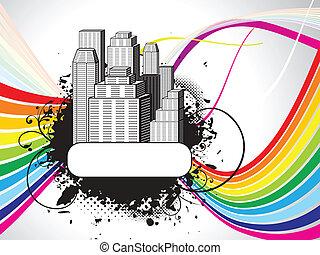 Abstraer el colorido edificio