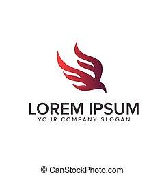 Abstraer el diseño del logo de los pájaros