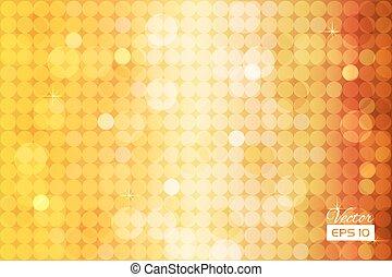 Abstraer el fondo dorado con círculos