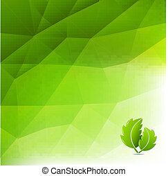 Abstraer el fondo ecológico verde