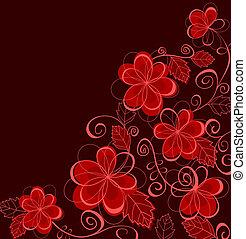 Abstraer el fondo floral con flores