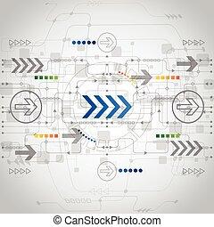 Abstraer el futuro concepto de tecnología de fondo, vector