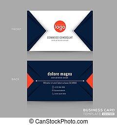 Abstraer el moderno diseño de tarjetas de la Armada Azul