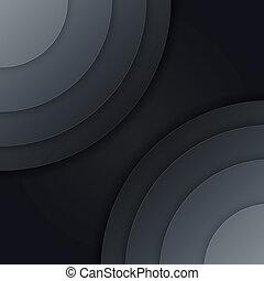 Abstraer el papel gris oscuro círculos vector de fondo