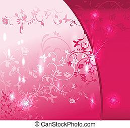 Abstraer el pasado floral rosa