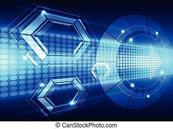 Abstraer el sistema de tecnología de velocidad futura, ilustración vectorial