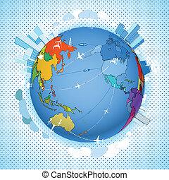 Abstraer el transporte y la ecología en la Tierra