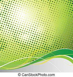 Abstraer el vector verde de fondo
