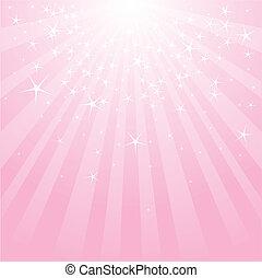 Abstraer estrellas rosas y rayas