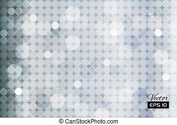 Abstraer fondo plateado con círculos